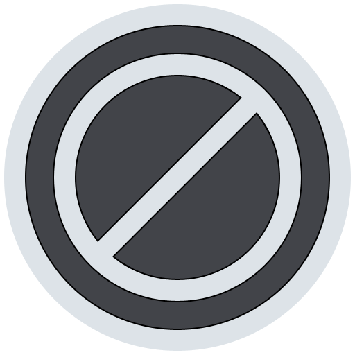 stop, no, cancel icon