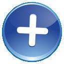 plus, add, blue icon