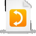 document, orange, paper, file icon