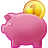 cash, savings, piggy, piggy bank, money icon