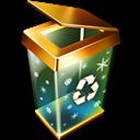 Bin, Empty, Recycle, x icon
