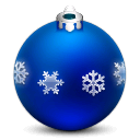 snow, ornament, with, flak icon