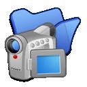 folder, videos, blue icon