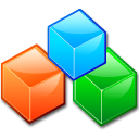 blocks, boxes, block, modules icon