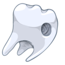 drilled,tooth icon