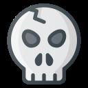 skull, scare, broken icon