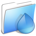 aqua, smooth, folder, torrents icon