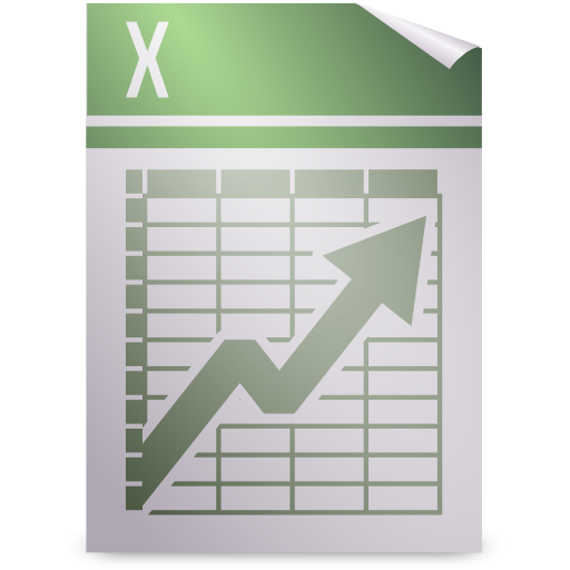 template, opendocument spreadsheet icon