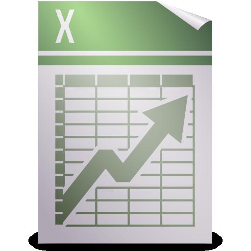 template, opendocument spreadsheet icon