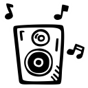 party, sound, music, loud, speaker icon