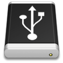 Drive Black USB icon