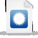 paper, document, blue, file icon