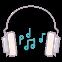 device, headphones, audio, notes, sound, play, music icon