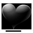 black,heart,avatar icon