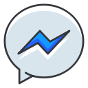 network, facebook, media, communication, social, messenger icon