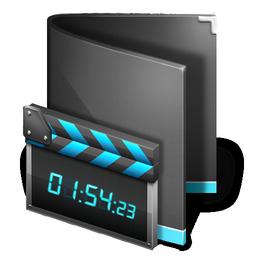 black, film, movie, folder, video icon