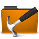 folder, orange, develop, development icon