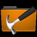 folder, orange, develop, development icon