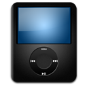 nano, ipod, black icon