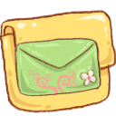 green, message, letter, folder, envelop, mail, email icon