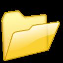folder, yellow, open icon