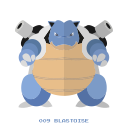 kanto, pokemon, water, blastoise icon