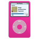 ipod,video,pink icon