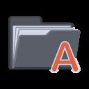 alphabet,folder icon
