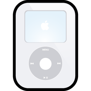 video, ipod, apple, white icon