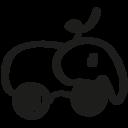 Elephant hand drawn animal icon