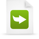 document, paper, green, file icon