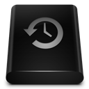 Backup, Black, Drive icon