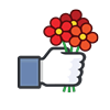 like, heart, happiness, favorites, flowers, love icon