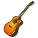 fire,guitar,instrument icon