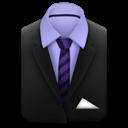 And, Purple, Stripes, Suit, Tie icon
