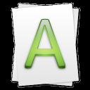 alt, font, paper, file, document icon