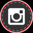 social, media, online, instagram icon