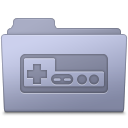 Folder, Game, Lavender icon