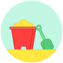 sand, beach, summer, play, game icon