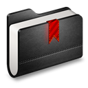 Black, Bookmarks, Folder icon