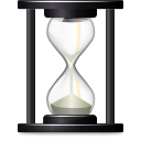 open, file, document, recent, history, time, paper, wait, hourglass icon