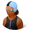 Dark, Female, Swimmer icon