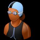 Dark, Female, Swimmer icon