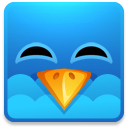 Twitter square happy icon
