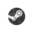 media, games, steam, social, engine, hexagon icon