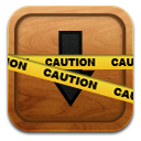 Caution, Market icon