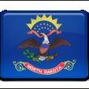 north,dakota,flag icon
