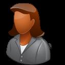 Office Client Female Dark icon
