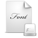 document, font icon