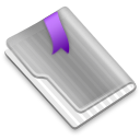 Grey Flag Purple icon